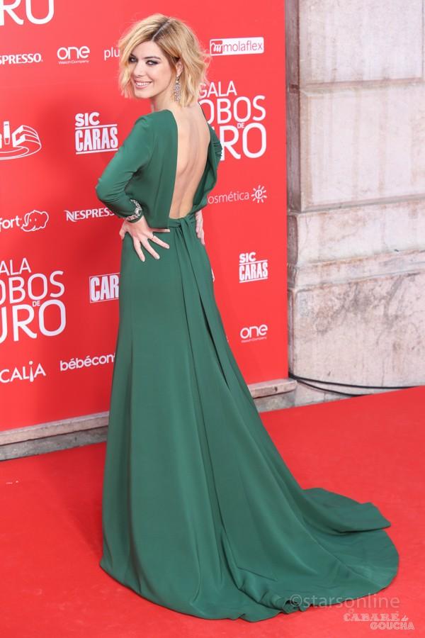 Raquel Prates. Evento: XXI Gala Globos de Ouro 2016, Coliseu dos Recreios, Lisboa, 15.05.2016